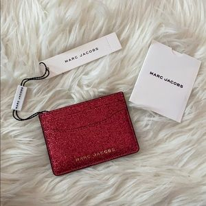NWT sparkly red marc jacobs card holder